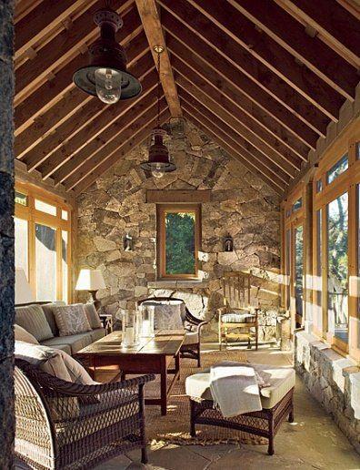 100 Great Spaces - Part 1. Rustic SunroomEnclosed ...