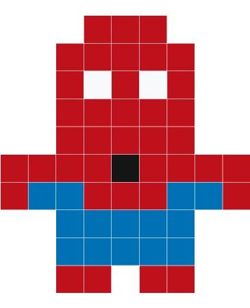 Spiderman Perler Beads Pixel Art Spiderman Pixel Art Minecraft