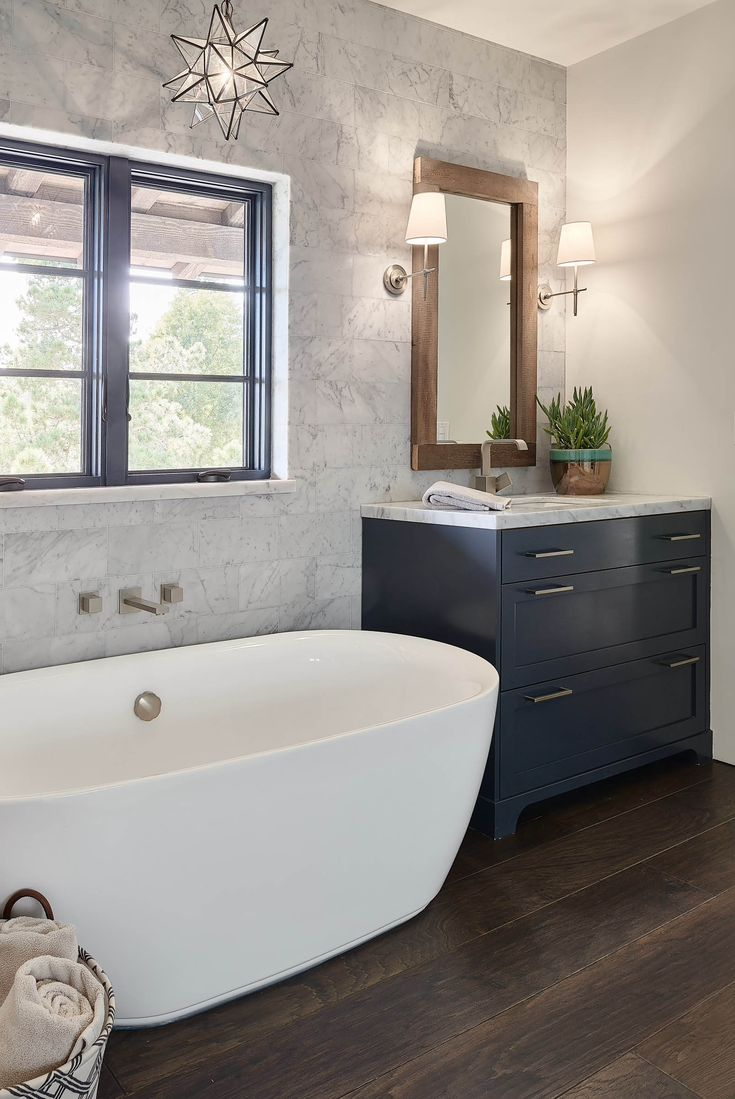 the  best stand alone tub ideas on pinterest  stand alone  - stand alone tube with hanging star chandelier