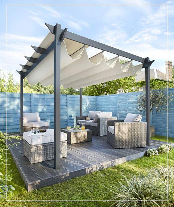 48 best jardin am nagement ext rieur images on pinterest balconies playhouse ideas and. Black Bedroom Furniture Sets. Home Design Ideas