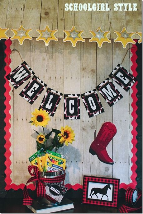 Awning bulletin board idea from Schoolgirl Style