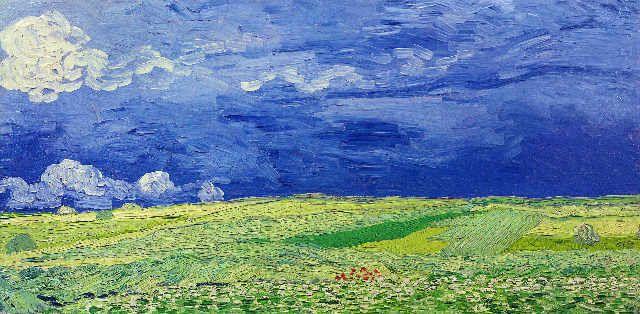 Vincent Van Gogh - Wheatfields under Thunderclouds, 1890 - jetzt bestellen auf kunst-fuer-alle.de