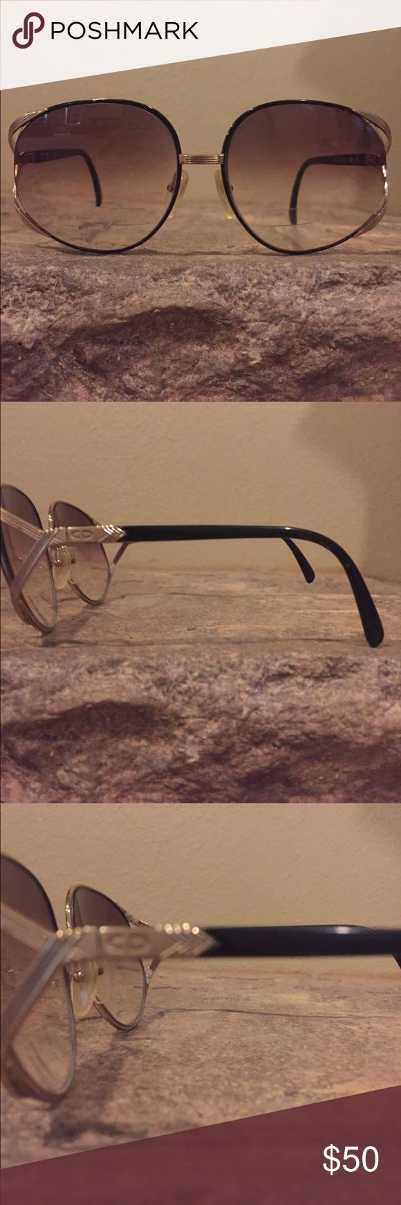 Authentic Christian Dior bifocal sunglasses 100% authentic. Can opt to have the bifocal removed for free at your local sunglass store .: that would make them regular glasses . Minor hair like little lines  ... overall in amazing shape Christian Dior Accessories Sunglasses