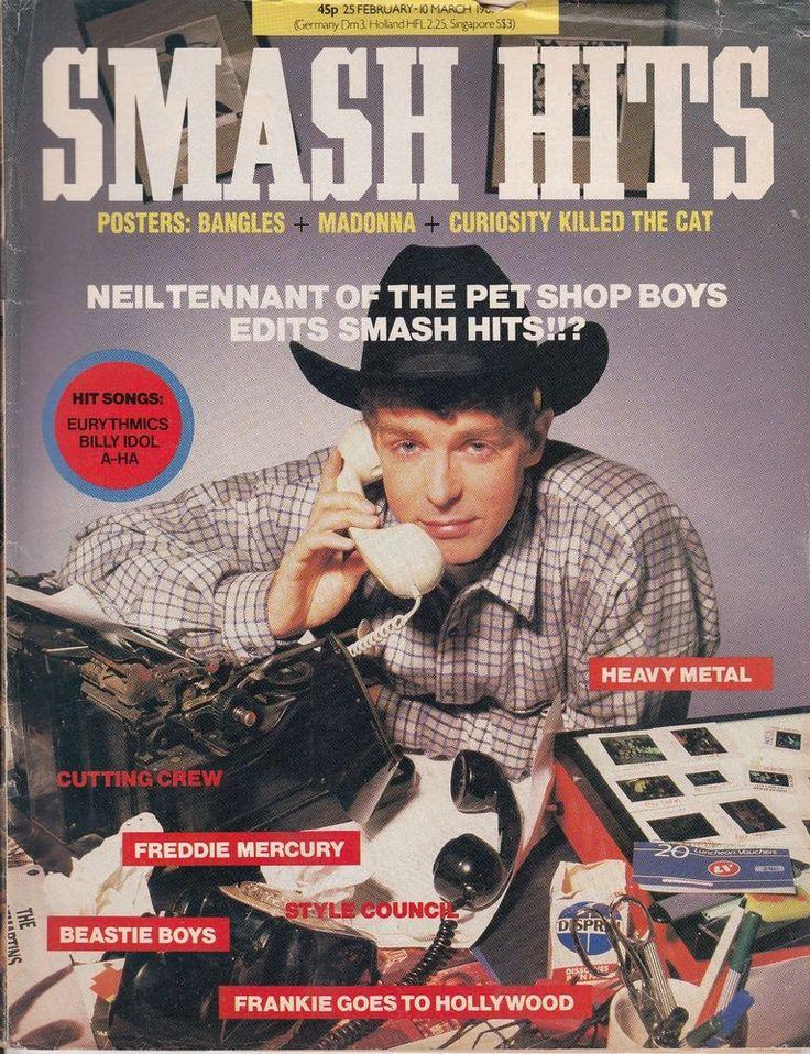 Smash Hits Magazine 25 Feb - 10 Mar 1987 Neil Tennant, The Pet Shop Boys, Europe in Books, Comics & Magazines, Magazines, Music, Dance & Theatre | eBay