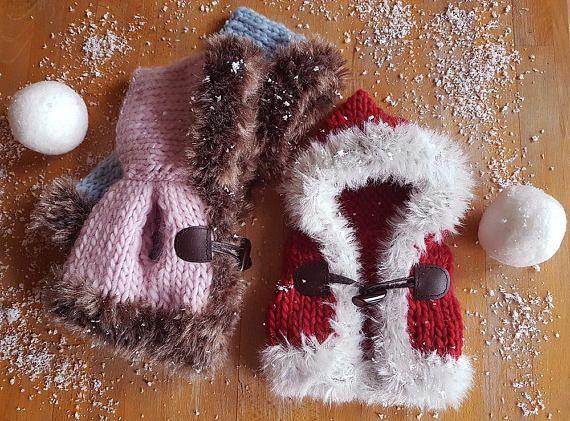 chooded vest eskimo  choose the color  newborn eskimo vest