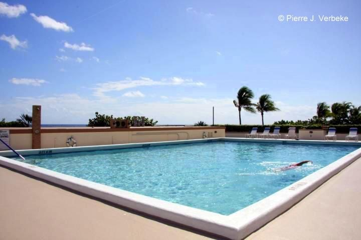 Whitehall Oversized Heated Swimming Pool Sold Oceanfront Condo For Sale Boca Raton