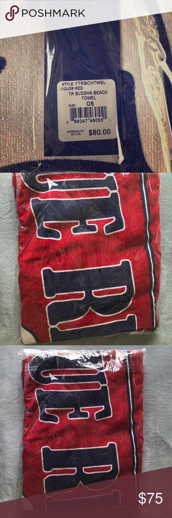 True Religion large beach towel True Religion red large beach towel brand new with tags - unopened True Religion Other