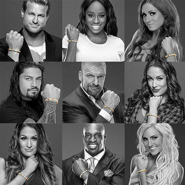 Superstars & Divas showing their support for Connor's Cure