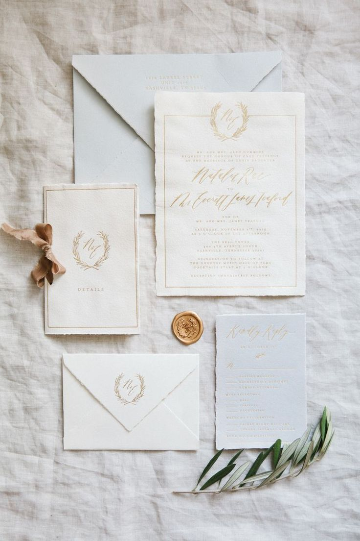 Handmade Paper Invitations Calligraphy and Design