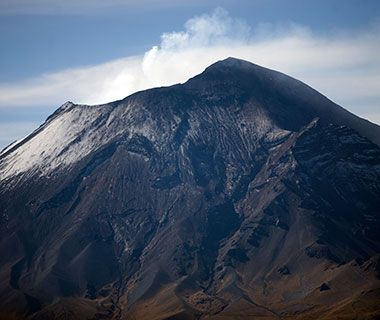 For the truly courageous there is Iztaccíhuatl (43 miles southeast of Mexico city). This dormant volcano—the third highest mountain in Mexico—is recommended for the heartier, experienced climber. Elevation hits 17,126 feet above sea level and the terrain ranges from scrambling over rock fields to ice climbing, depending on the time of year.