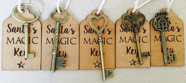 A personal favourite from my Etsy shop https://www.etsy.com/uk/listing/457566492/santas-magic-key