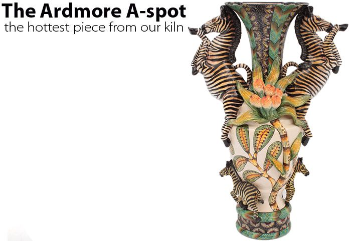 We celebrate the start of an African spring with this triumphant Zebra Vase painted by Nonhlanhla Nxumalo and made by George Manyathela and Qiniso Mungwe.