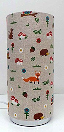 Woodland Friends Childrens Bedside Table lamp Pad lamp: Amazon.co.uk: Lighting