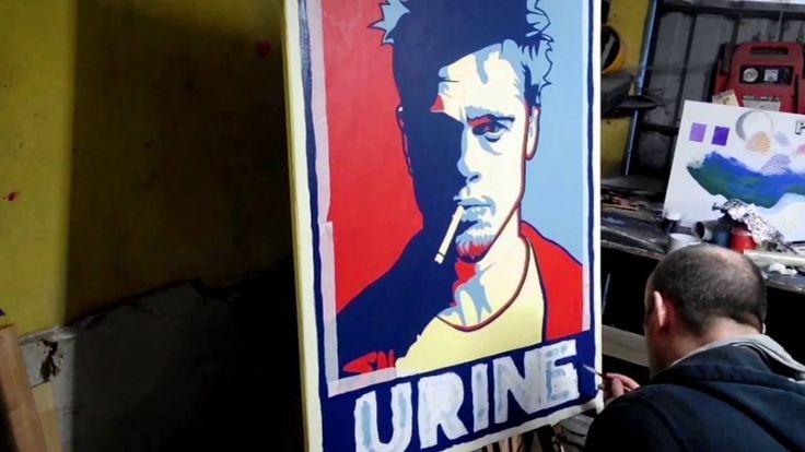 TUTORIAL:  Brad Pitt Speed Painting!