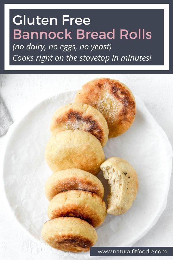 Bannock Bread Rolls (gluten free, vegan, yeast free) via Krystal – Natural Fit F…