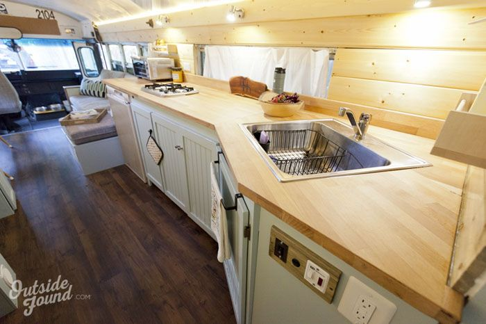 "They call it their ""humble home"" but given the amount of customization and the end result, this young couple sure doesn't need to be humble about things. They took an old school bus and turned it into something any luxury RV owner would swoon over. Alyssa and Will infused their bus with a style all their own, joining modern and rustic styles to create something ..."