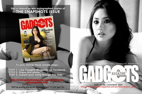 Get a chance to win autographed copies of The Snapshots Issue and a signed copy of The Jinri Experience!  http://www.gadgetsmagazine.com.ph/gadgets-giveaway/jinri.html