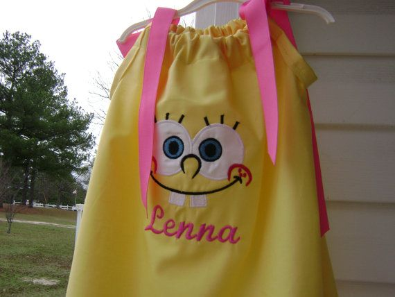 Sponge Bob Dress for that Special Party 6 months by CruzsDesigns