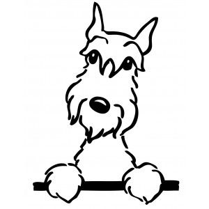 SCHNAUZER FIGURE DOG CAR DECAL STICKER