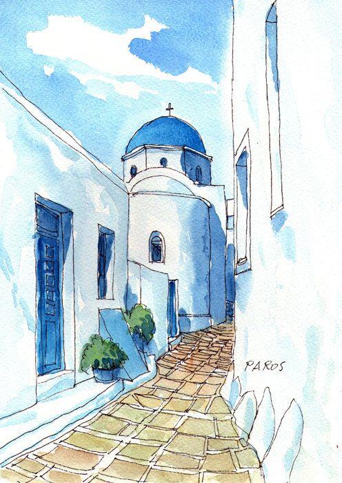 Impresión de un acuarela original de arte capilla de por AndreVoyy