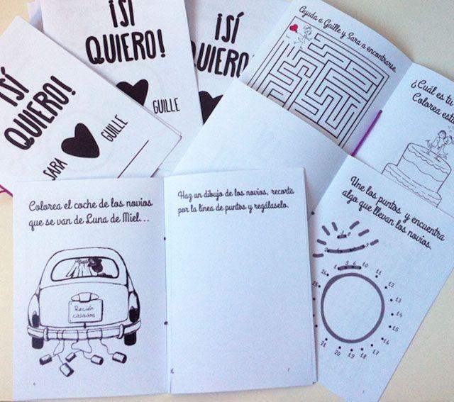 Blog de los detalles de tu boda | Libro de actividades descargable gratuito para niños en bodas | http://losdetallesdetuboda.com/blog