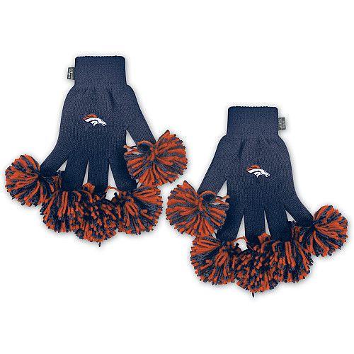 Broncos Pom Pom Gloves! Super Cute and Fun