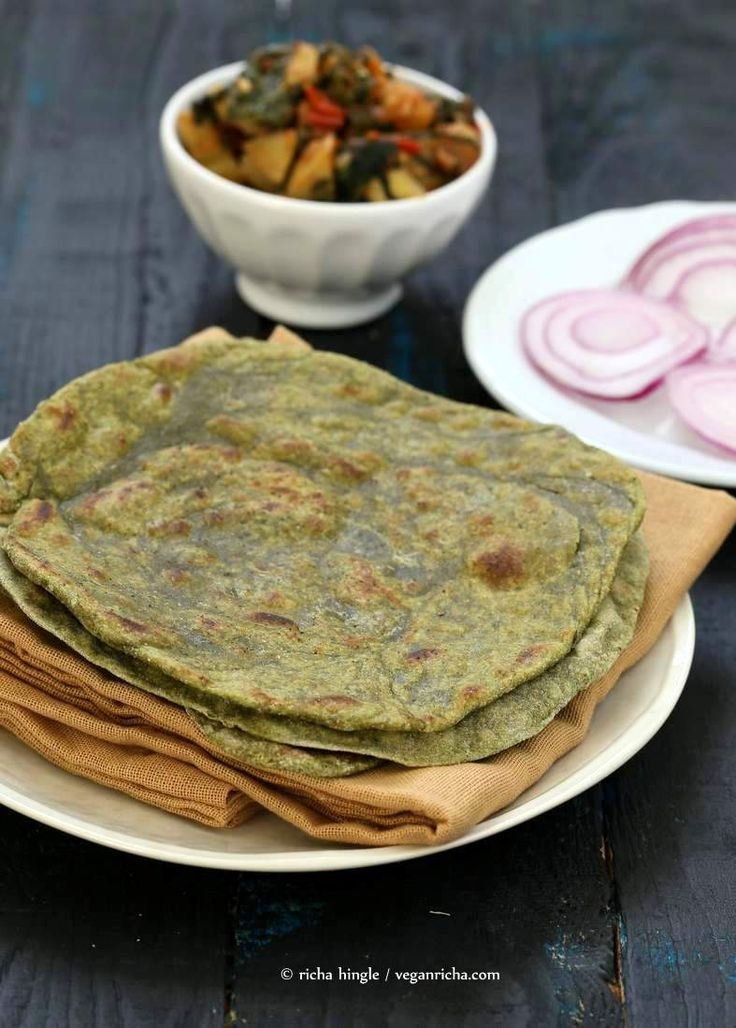 Spinach Paratha flat bread  | Vegan Richa