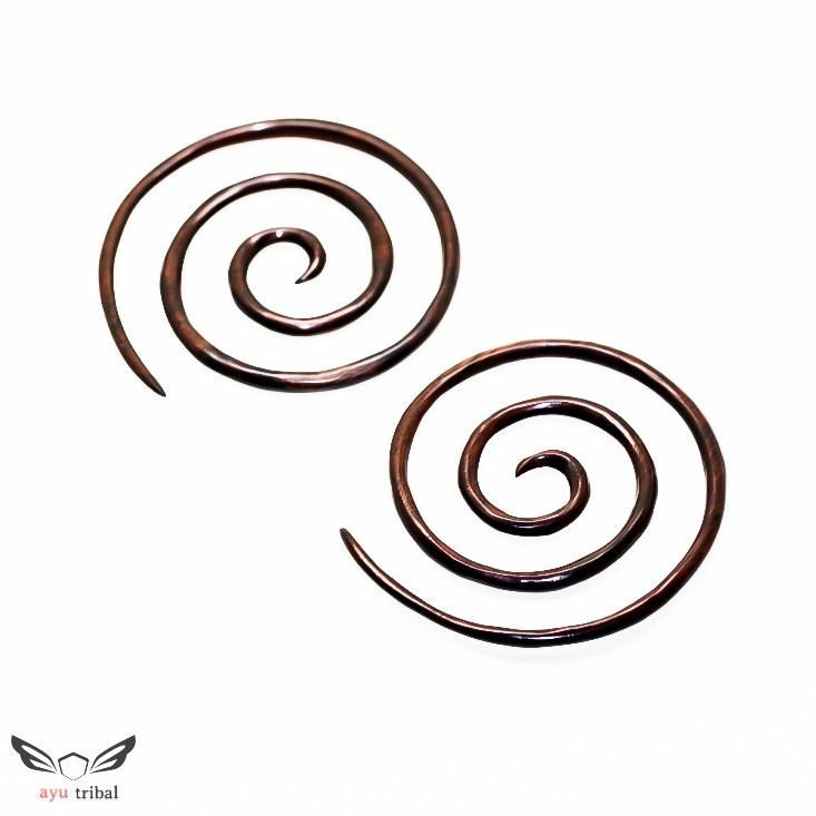 6g XXL Gauges BA040-04 #ayutribal #shopify #piercing #stretchedears #6g #largespiral