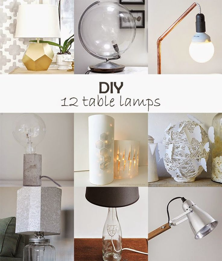 diy table lamps #diy #round-up