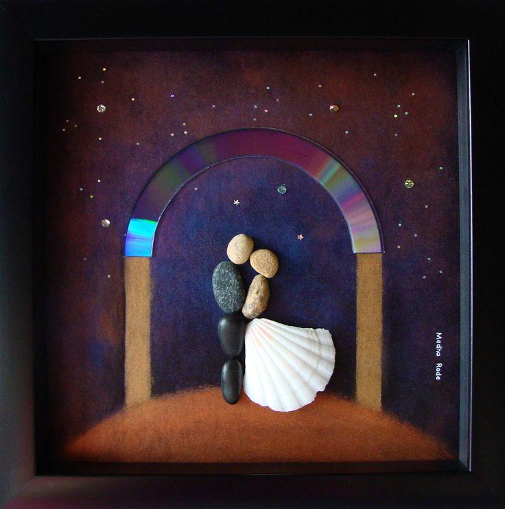 Unique Wedding Gift- Pebble Art Wedding- Unique Engagement Gift- Pebble Art Love- Bride and Groom Gift- Medha Rode- Pebble Art by MedhaRode on Etsy