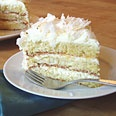 Gluten-Free Coconut Layer Cake - This is yummy.  I have made it before with a few minor alterations.