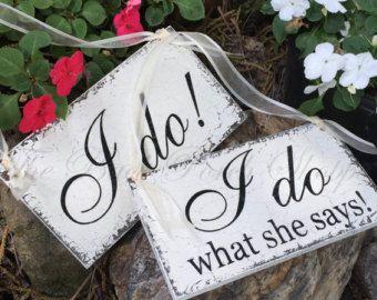 Signos de silla de boda  Sr. & Sra. Presidente Signs  Novia by thebackporchshoppe | Etsy