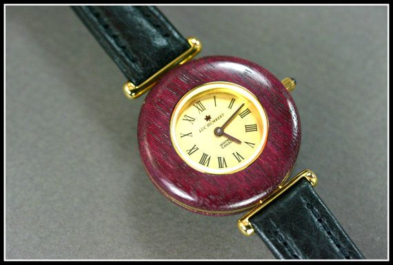 Wooden Watch Purple watch Womens watch wood by HUMBERTcreations