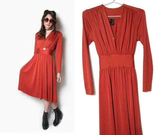 70s Joy Stevens California Burnt Orange Long by HowToCatchaGhost