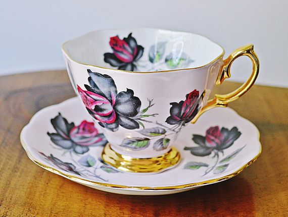 Royal Albert Masquerade Pink Vintage Teacup And Saucer