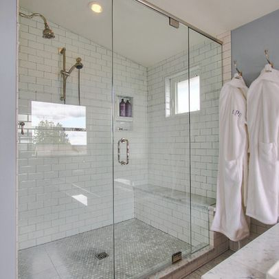 White Tile Bathroom Gray Grout 243 best master bath ideas images on pinterest | room, bathroom
