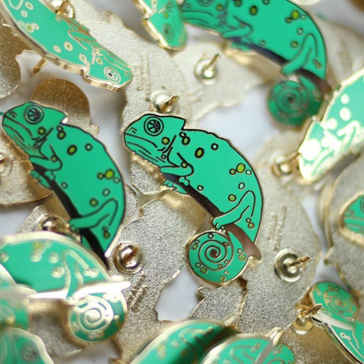 Chameleon Enamel Pin - Lizard Lapel Pin // Hard Enamel Pin, Cloisonné, Pin Badge by shinyapplestudio on Etsy https://www.etsy.com/ca/listing/482447807/chameleon-enamel-pin-lizard-lapel-pin