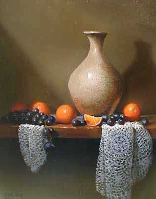 Oranges and Lace (20x16 oil on canvas)view more by Richard Weers