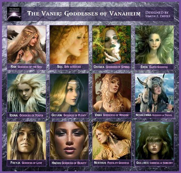 The Vanir - Goddesses of Vanaheim