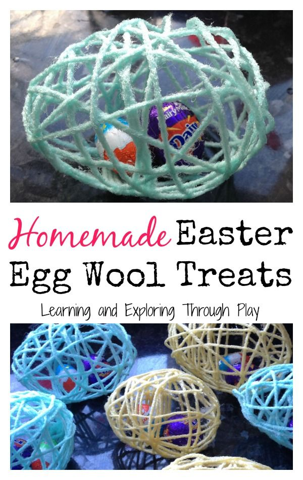 Homemade treats. Homemade gifts. Wool Easter Egg Treats. Egg Hunts. Easter Celebrations. Learning and Exploring Through Play.