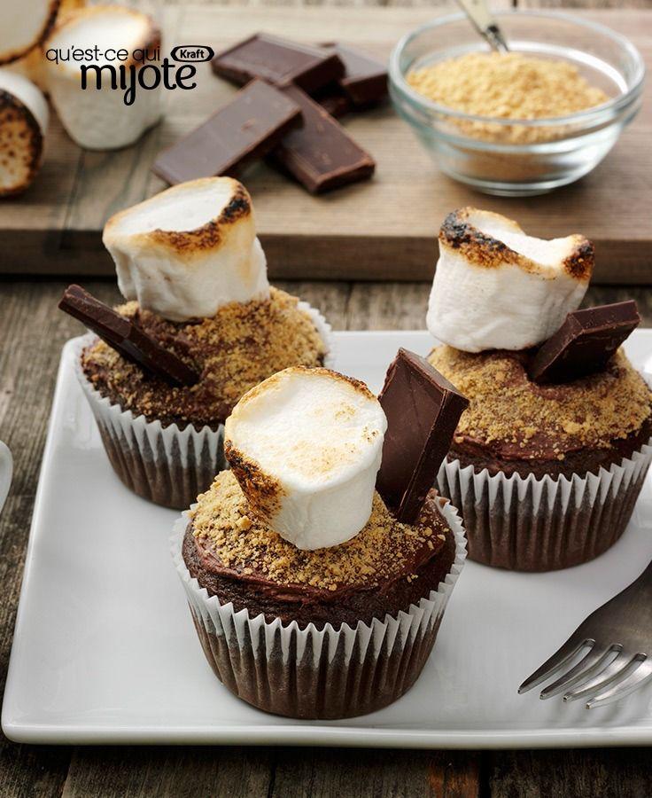 Petits gâteaux au chocolat et à la guimauve #recette