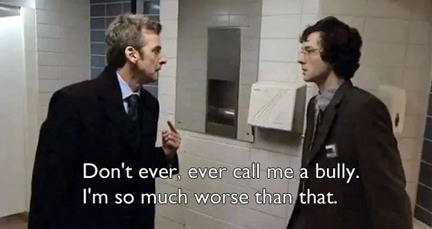 Just remember, Malcolm Tucker might like to swear at people, but he's NOT a bully