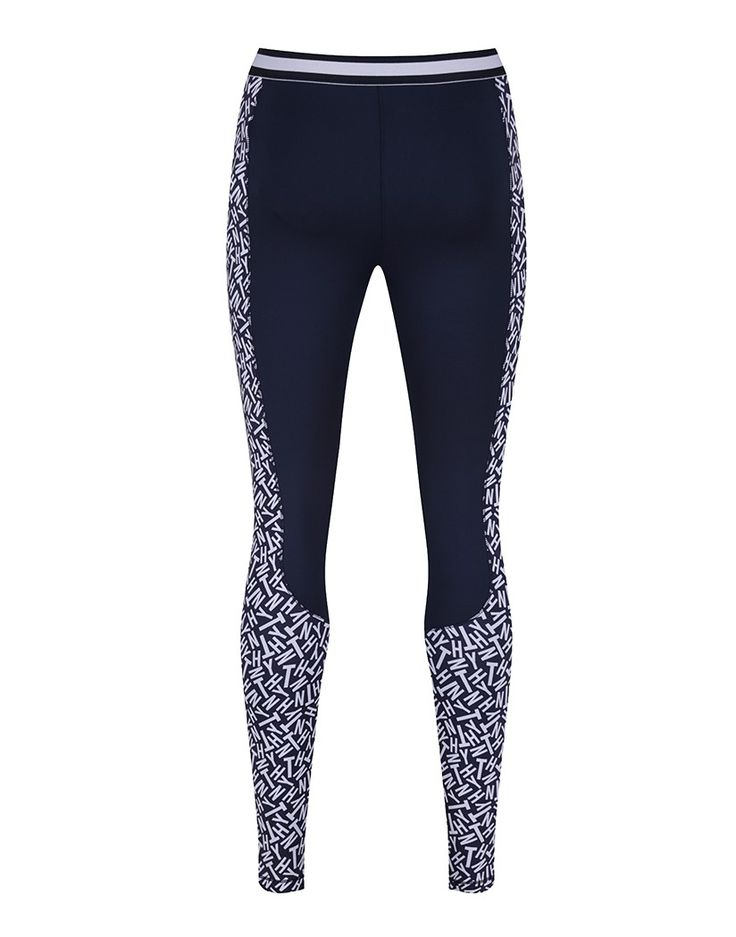 Tommy Hilfiger Women's Rowena Activewear Trousers - Peacoat/TH Logo Print