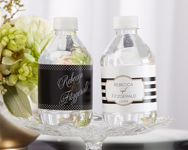 Personalised Water Bottle Labels – Classic | http://www.weddingfavoursaustralia.com.au/products/personalised-water-bottle-labels-classic