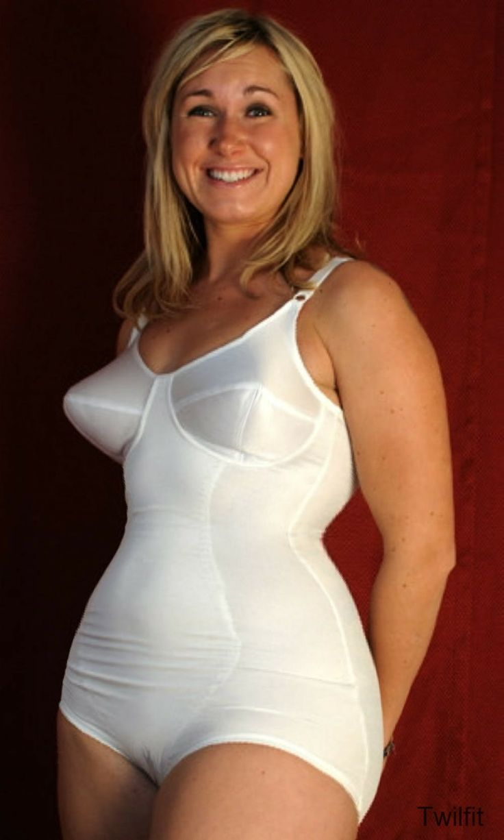 pics of woman in lingerie white all in one body briefer girdles good foundations 113
