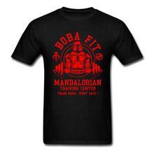 2017 Venta Caliente de La Manera Boba Fit T Shirt Mens Stormtrooper de Star Wars Mandaloriano Centro Traininger Tops Tee Shirts Jedi Camisetas