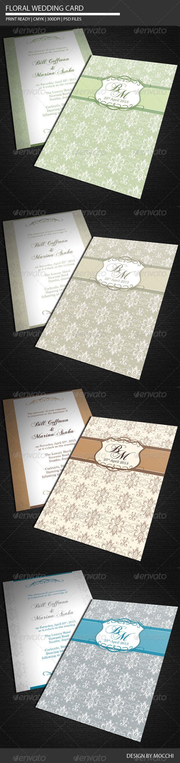 Floral Wedding Card - Weddings Cards & Invites