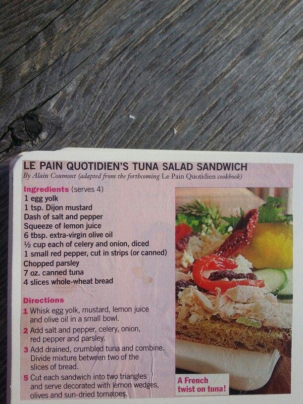 Le Pain Quotidien's Tuna Salad Sandwich