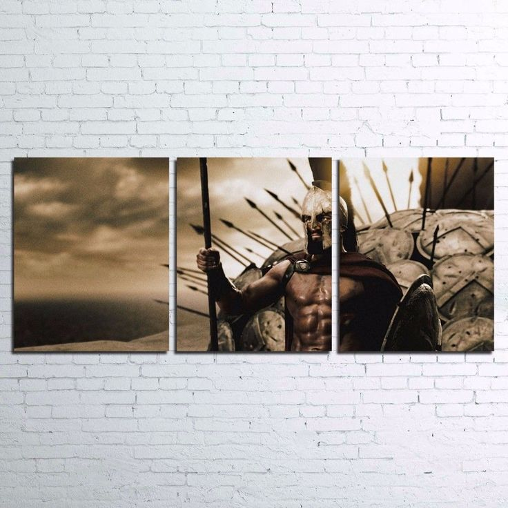 300 Rise Of An Empire Movie Painting Printed Canvas Wall Art Home Decor 3 pcs #Unbranded #ArtDeco