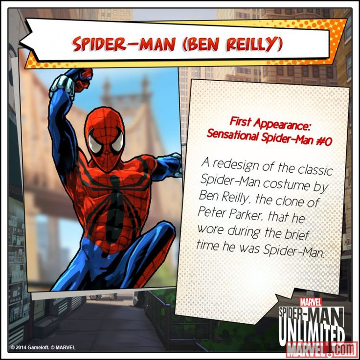 Ben Reilly in Spider-Man Unlimited mobile game.